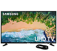 Samsung 50 Class LED 4K Ultra HDTV and 6 HDMICable - E295430