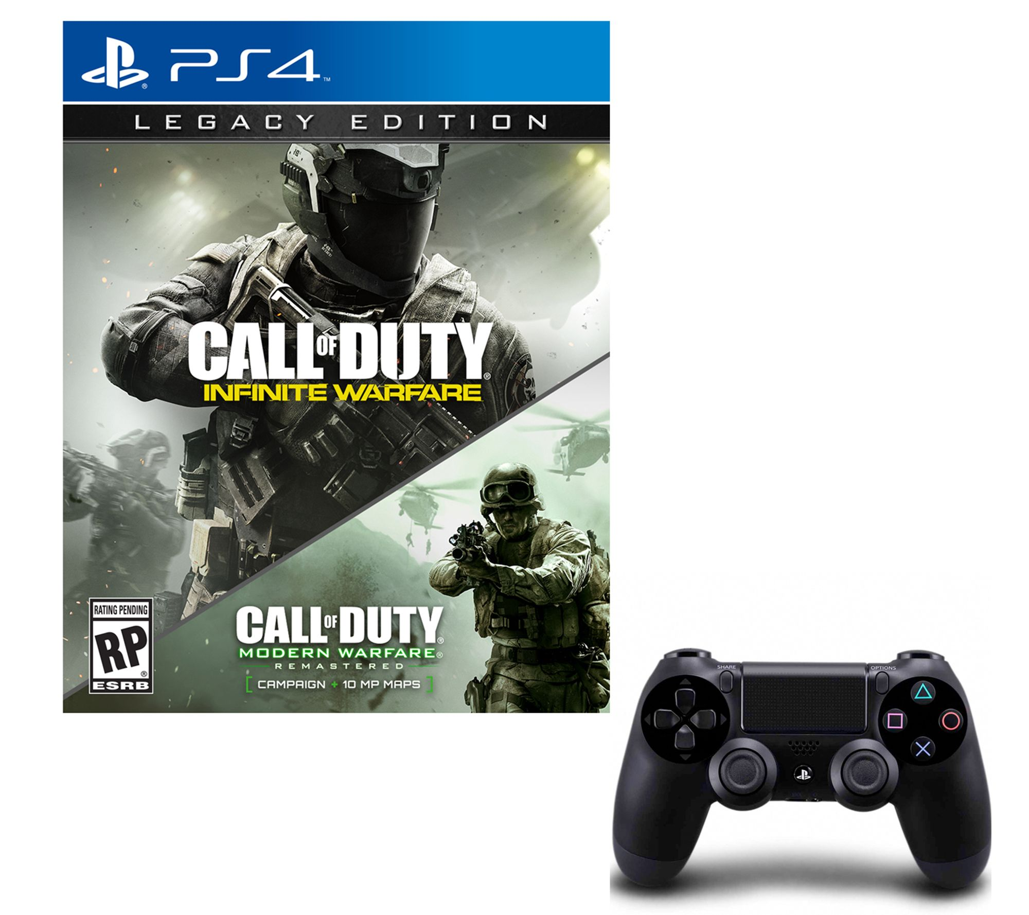 Call of Duty: Infinite Warfare Legacy Edtn. & PS4 Controller — QVC.com