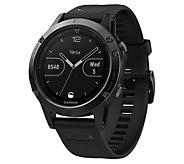Garmin fenix 5 47mm Multisport Smartwatch - Sapphire Edition - E293933