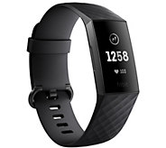 Ship 10/1 Fitbit Charge 3 Fitness Tracker - E295534
