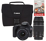 Canon Rebel SL2 DSLR Camera with 18-55mm, 75-300mm Lenses and Accessories - E232335