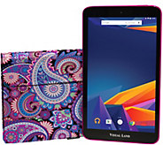 Visual Land 10 Tablet Octa Core 16GB with Keyboard Case - E290635