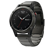 Garmin fenix 5 47 Smartwatch Sapphire Edition with Metal Band - E293935