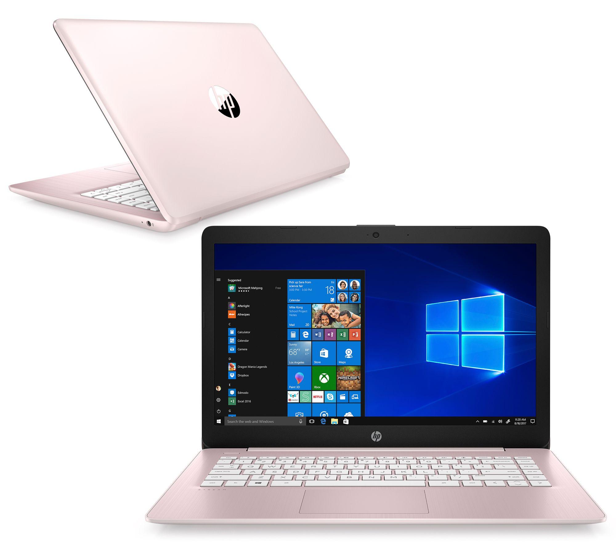 Hp 14 Stream Laptop A4 4gb Ram 64gb Emmc With Office 365 Qvc Com
