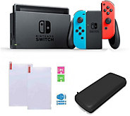 Nintendo Switch Neon Joy-Con with Case & ScreenProtector - E292437