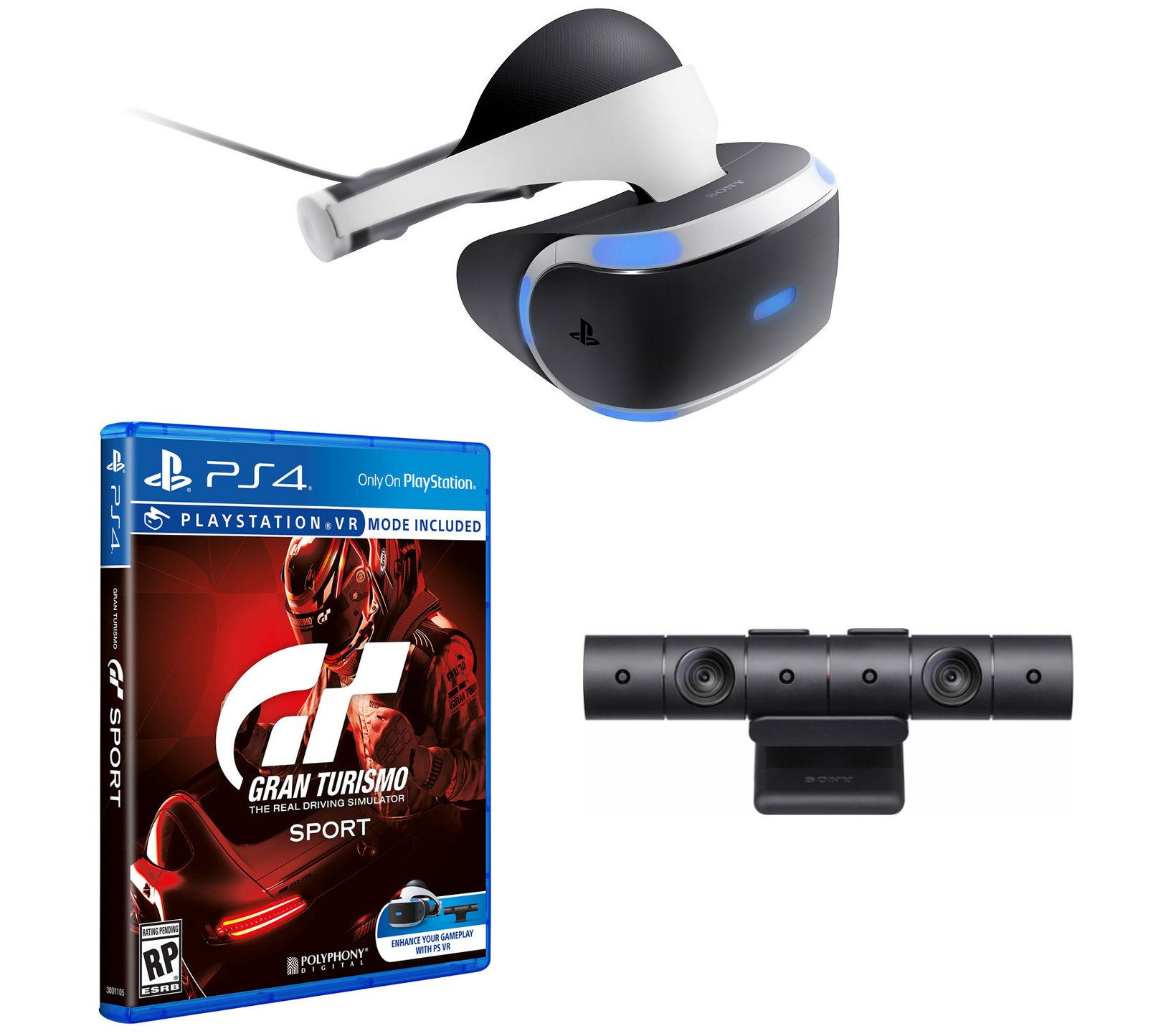 ps4 vr gran turismo sport bundle with headset camera. Black Bedroom Furniture Sets. Home Design Ideas
