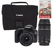 Canon Rebel SL2 24MP DSLR Wi-Fi Camera in Black with 2 Lenses and Accessories - E231839