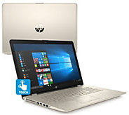 HP 17 Touch Laptop Gold Blossom Core i5 8GB RAM 2TB HDD with MS Office - E231840