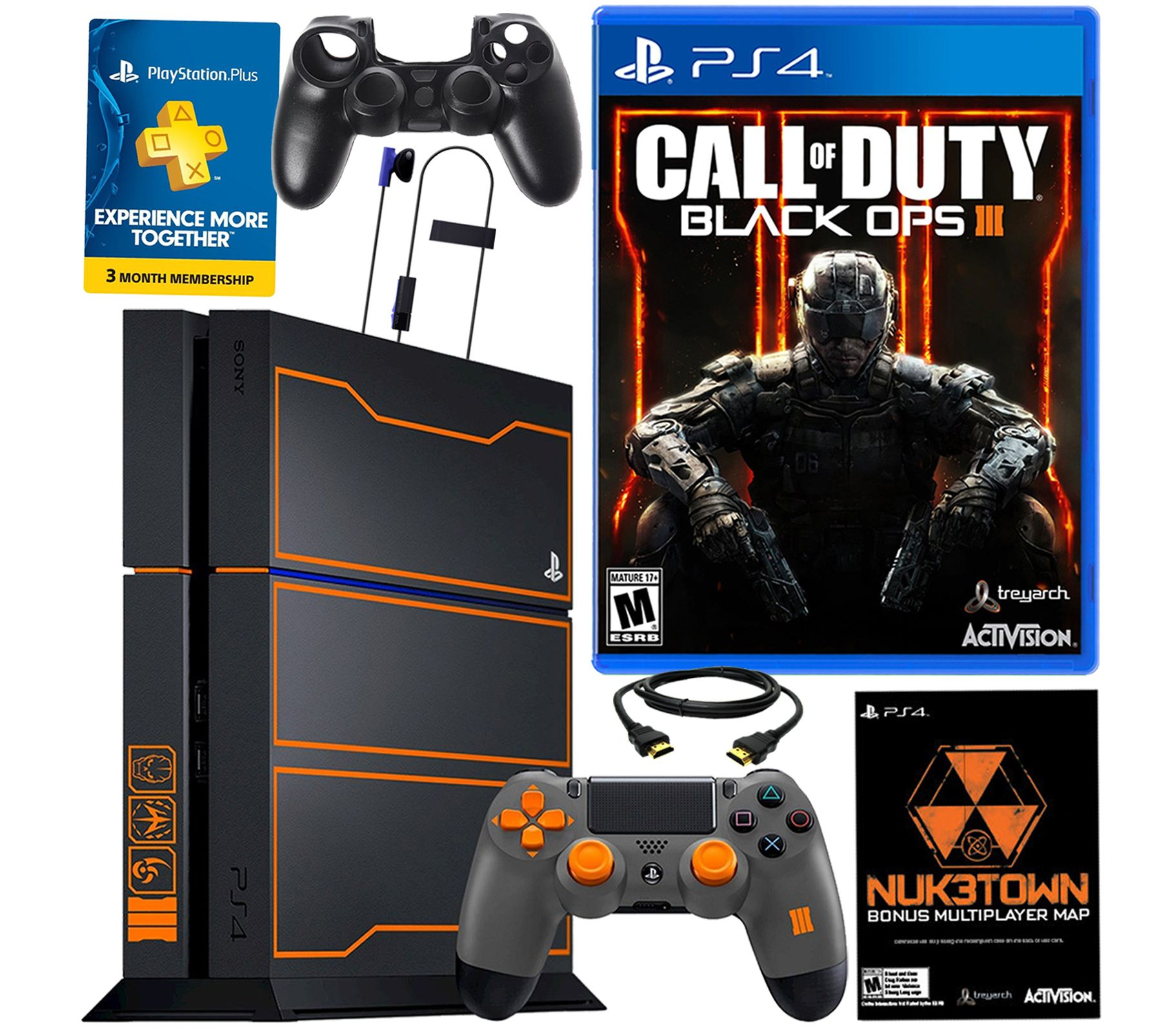 Sony Ps4 1tb Call Of Duty Black Ops Iii Bundle W Accs Qvccom