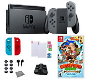Nintendo Switch with Donkey Kong Country and Accessories - E295141