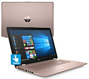 HP 17 Metallic Touch Laptop A12 Quad-Core 8GB RAM 1TB HDD with Software - E231842