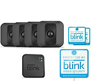Blink XT 4-Pack Wire-Free HD Weatherproof Wi-Fi Cameras w/ Night Vision - E232442