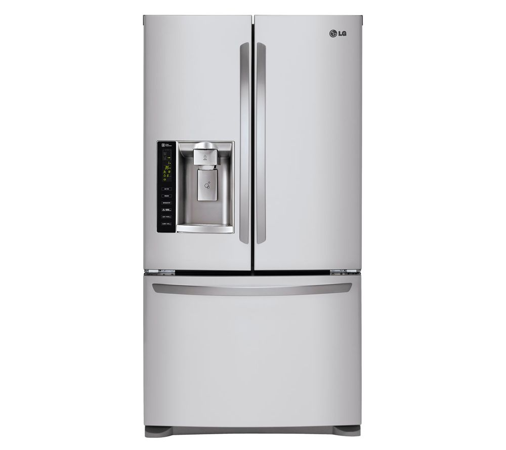 Lg 247 Cubic Ft 3 Door French Door Refrigerator Stainless Qvc