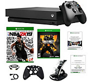 Xbox One X 1TB with NBA 2K19, Call of Duty: Black Ops 4 & Mor - E295943