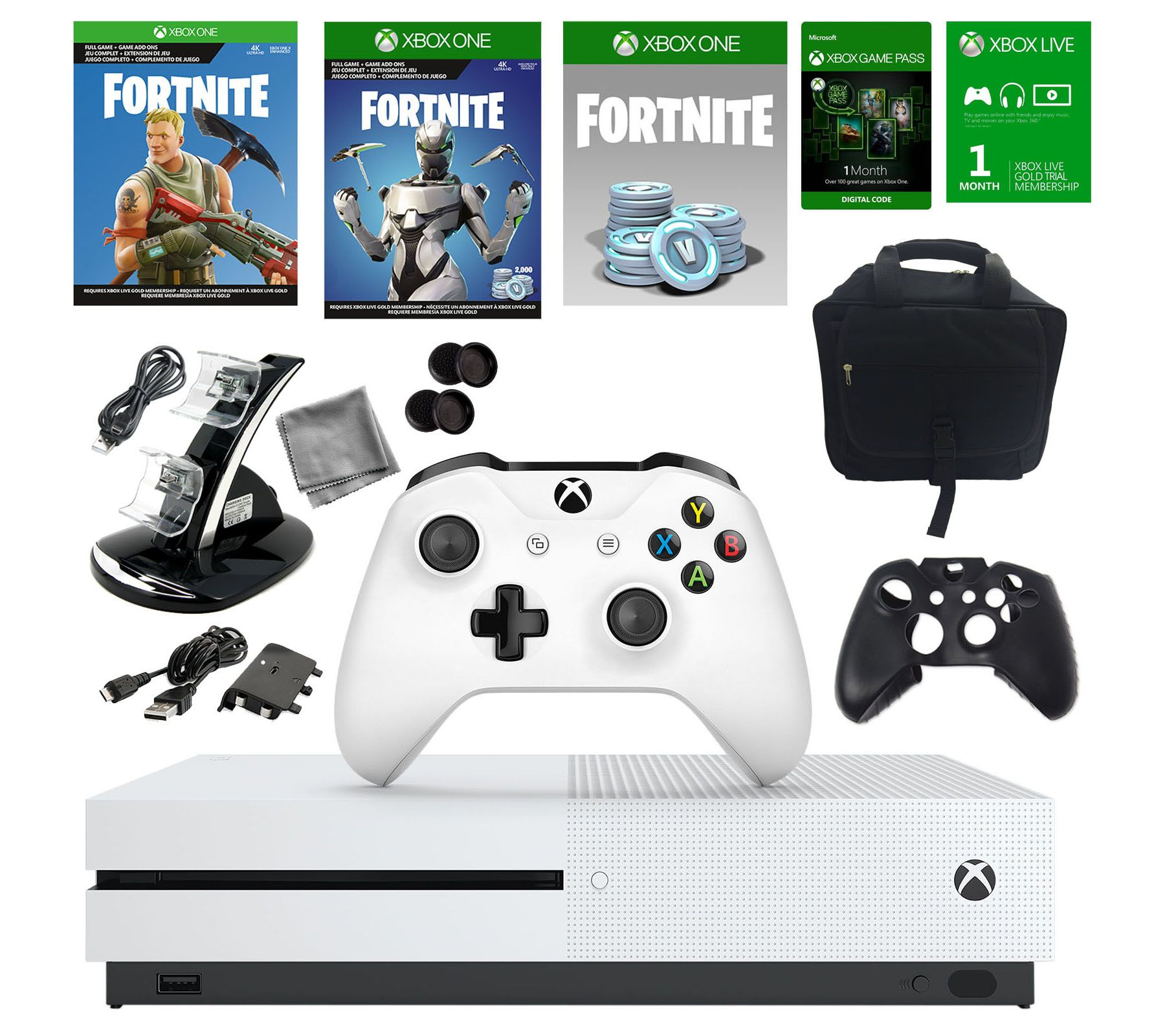 Xbox One S 1tb Fortnite Console With Titanfall2 Page 1 Qvc Com