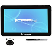 LINSAY 10.1 16GB Android Tablet  w/ Holder andStylus - E300043