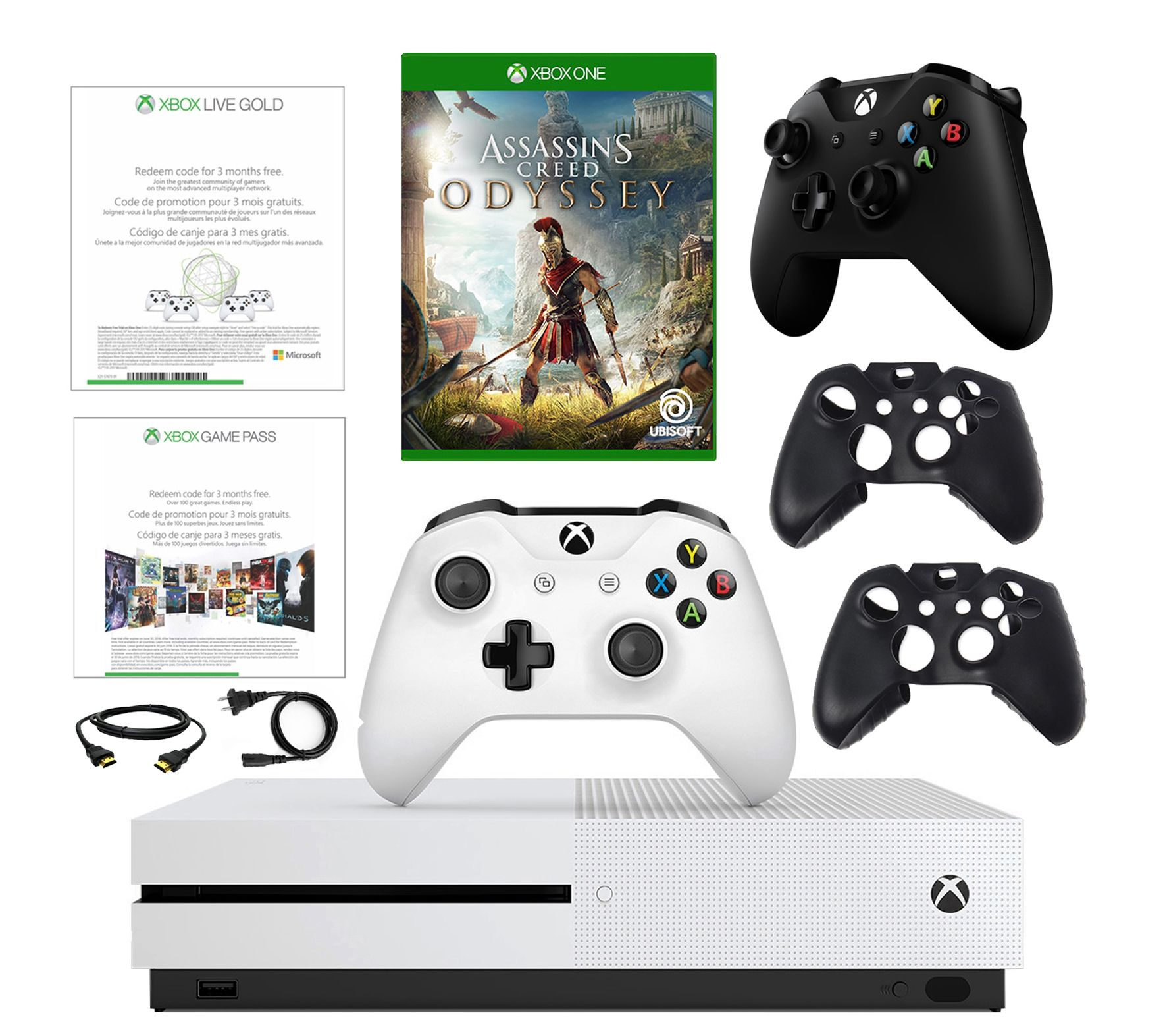 Xbox One S 1TB with Assassin's Creed Odyssey and Accessories — QVC com