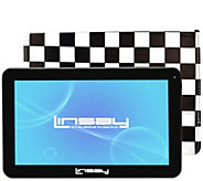 LINSAY 10.1 16GB Android Tablet with Case - E300045