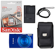 Canon PowerShot Elph 190 IS w/ 8GB SD Card & Carry Case - E232146