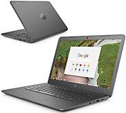 HP 14 Chromebook - Celeron, 4GB RAM, 32GB eMMC& Voucher - E296347