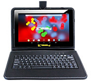 LINSAY 10.1 16GB Android Tablet - 2GB RAM w/ Keyboard Case - E300047