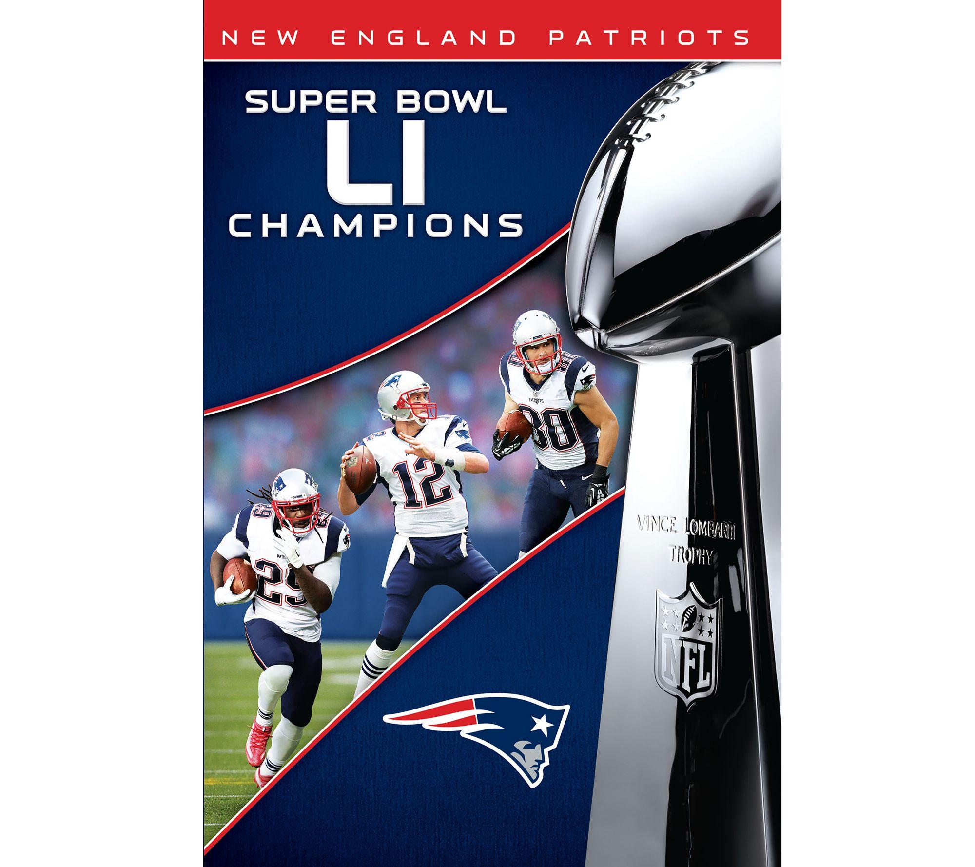 uk availability abddd 22105 New England Patriots NFL Super Bowl 51 Champions DVD — QVC.com