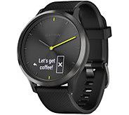 Garmin vivomove HR Sport Smartwatch Black - Large - E293949