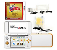 Nintendo 2DS XL with Zelda Game & Accessories -White - E294049