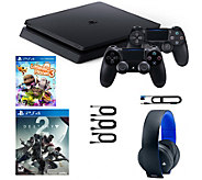 Sony PS4 1TB with 2 Games, 2 Controllers & Wireless Headset - E231451