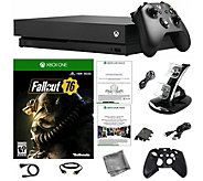 Xbox One X 1TB Console with Fallout 76 Game andAccessories - E295951