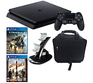 PS4 Slim 1TB Console w/ Tom Clancy The Division2 & Titanfall - E299952