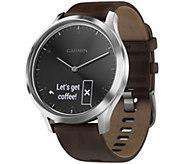 Garmin vivomove HR Premium Watch Black/Silvertone - Large - E293953