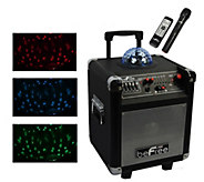 beFree Sound 6.5 Subwoofer with Projection Party Light  Dome - E291554