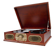 Studebaker SB6051 Wooden Turntable with AM/FM Radio - E248755