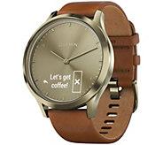 Garmin vivomove HR Premium Watch Goldtone - Small/Medium - E293955