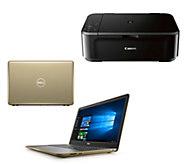 Dell 15 Laptop AMD A9 8GB RAM 1TB HDD w/ Software & Canon Printer - E231856