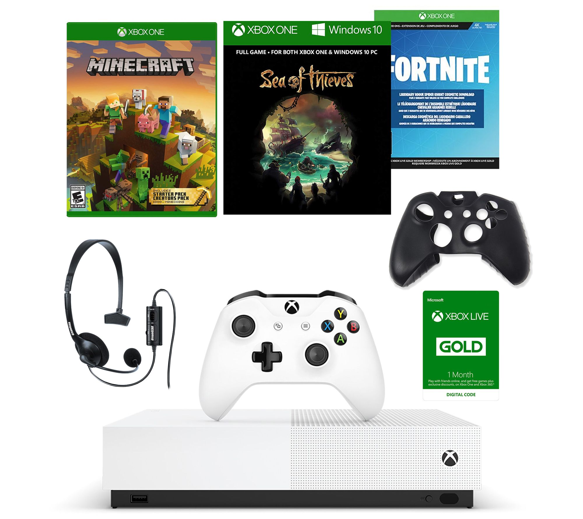 Xbox One S 1tb All Digital Edition Bundle W 3games Acc Qvc Com