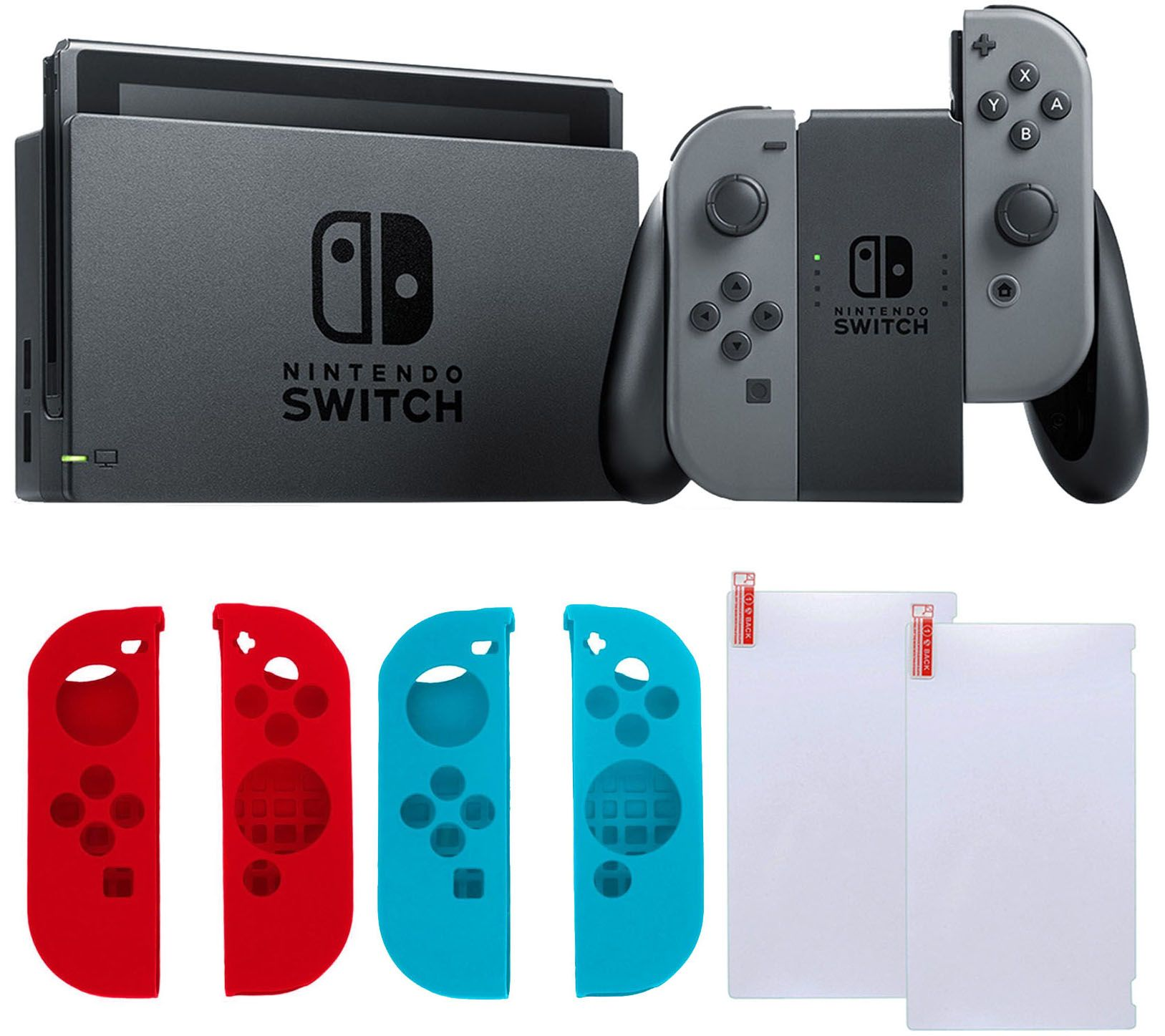 Nintendo Switch Gray with Silicone Sleeves & Screen Protector - Page on operating system designer, marketing designer, php designer, word designer, form designer, audio designer, database designer, html5 designer,