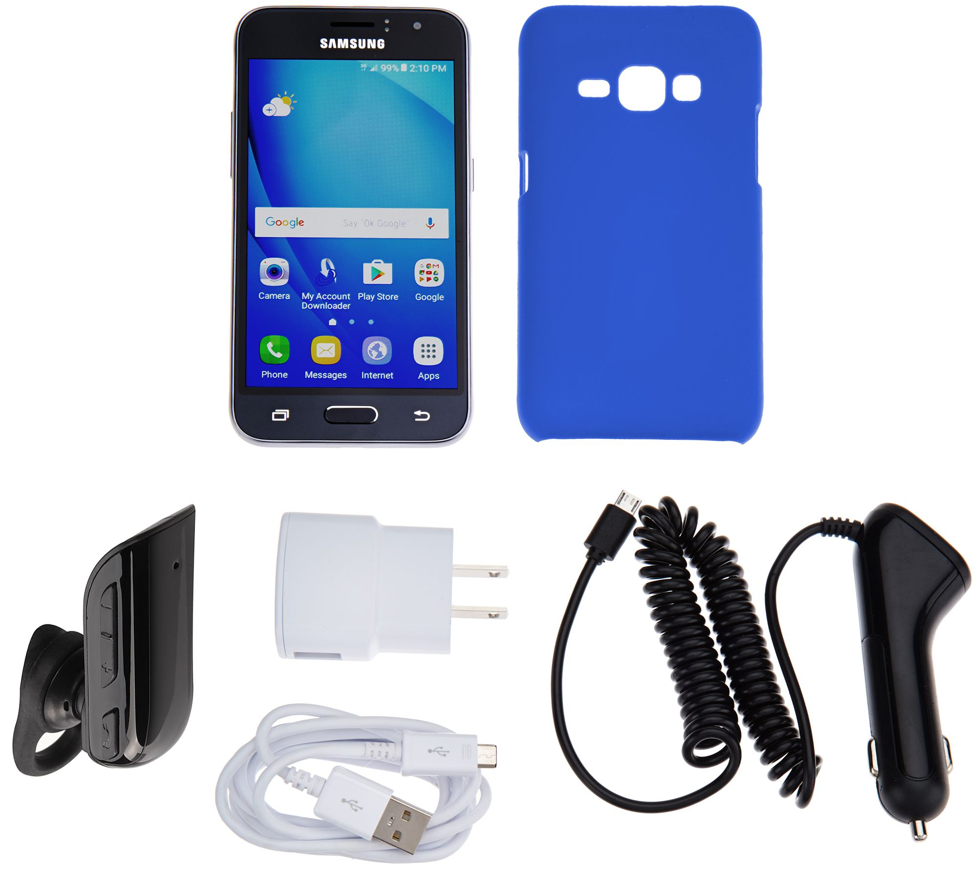 Samsung Galaxy Luna TracFone Smartphone with Case, and 1200 Mins/Texts/Data  — QVC com