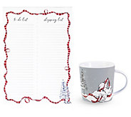 Vera Bradley Holiday List Pad and Ceramic Mug - E304360