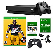 Xbox One X 1TB Console with Madden NFL 19 & Accessories - E295362