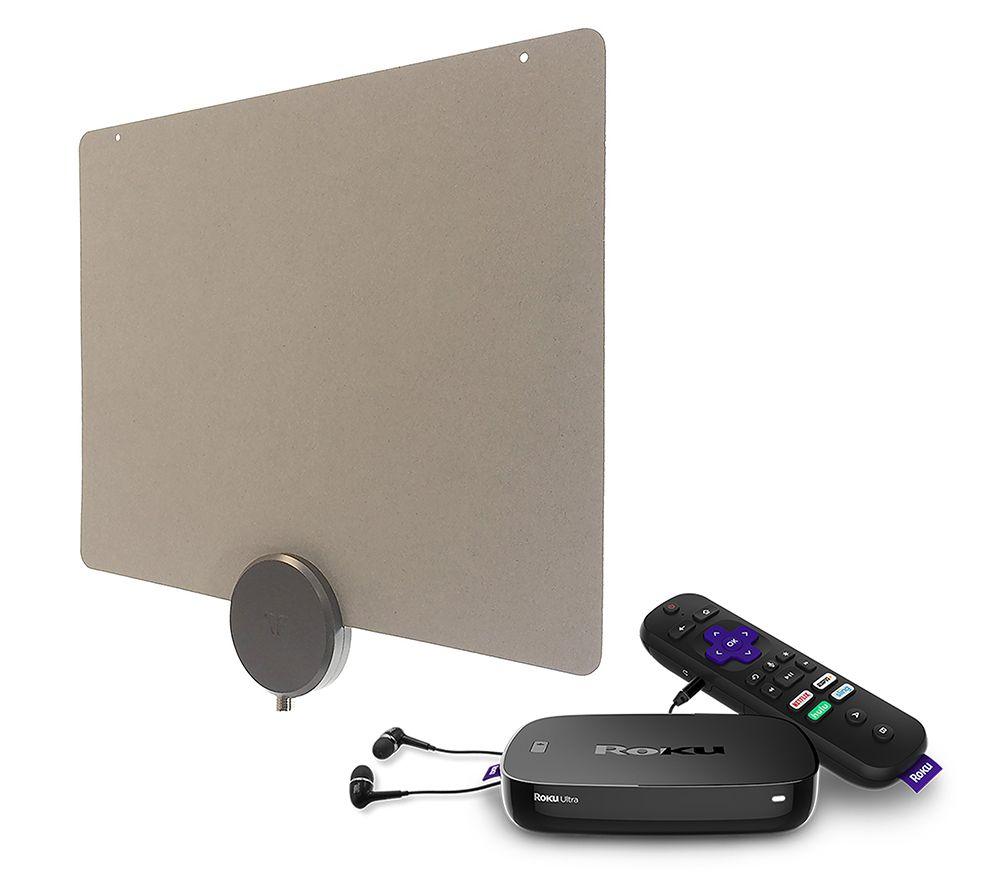 Roku Ultra Media Streamer and Mohu Releaf 30-Mile Antenna — QVC com