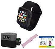 Apple Watch Series 1 42mm with iHome BluetoothAlarm Clock - E294863