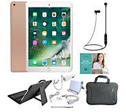 Apple iPad 9.7 6th Gen 128GB Wi-Fi Tablet w/ Accessories & Keyboard Case - E232864