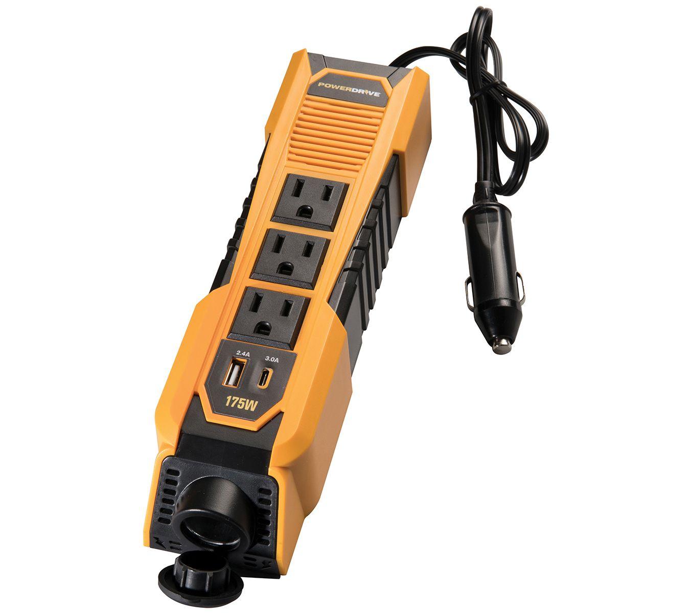 powerdrive 175w power strip inverter qvc com rh qvc com