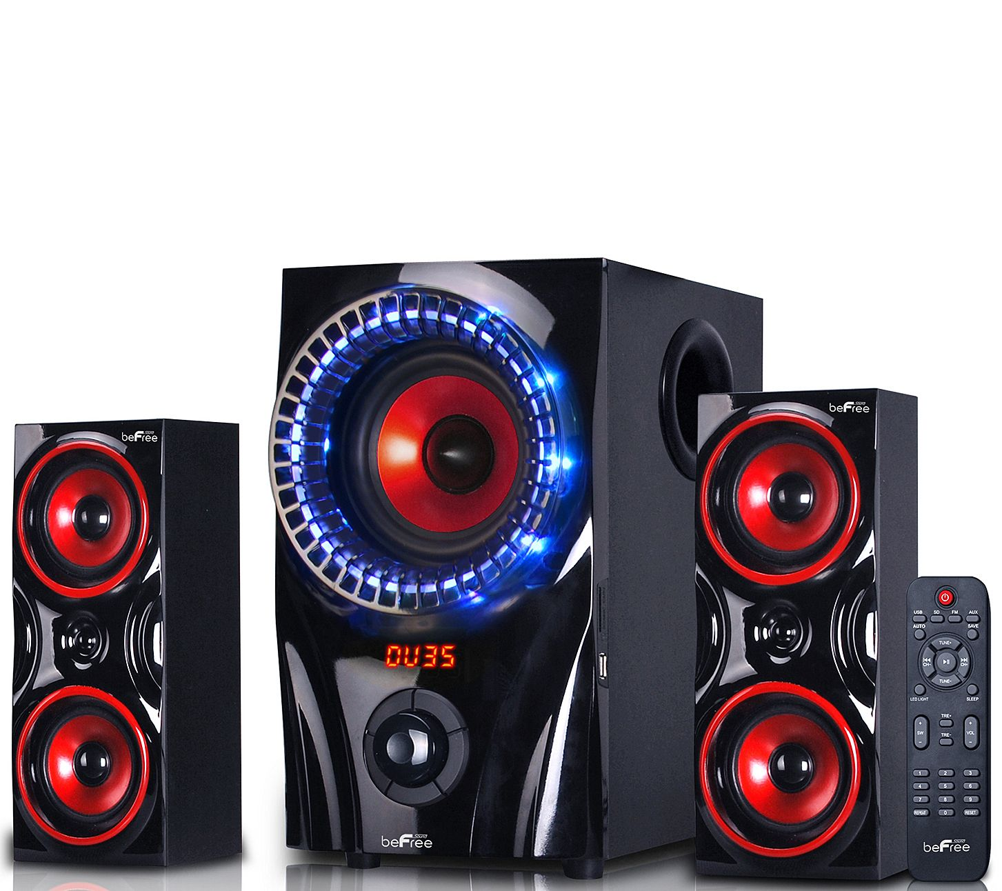Befree Sound 99x 2 1 Channel Surround Sound Bluetooth Speaker Qvc Com