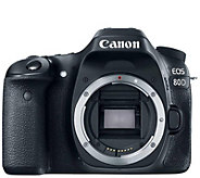 Canon EOS 80D 24MP DSLR Digital Camera Body - E288567