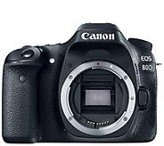 Canon EOS 80D 24MP DSLR Digital Camera Body - E288567