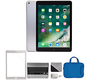 Apple 2018 iPad 9.7 128GB Wi-Fi & Cellular Bundle - Silver - E294667