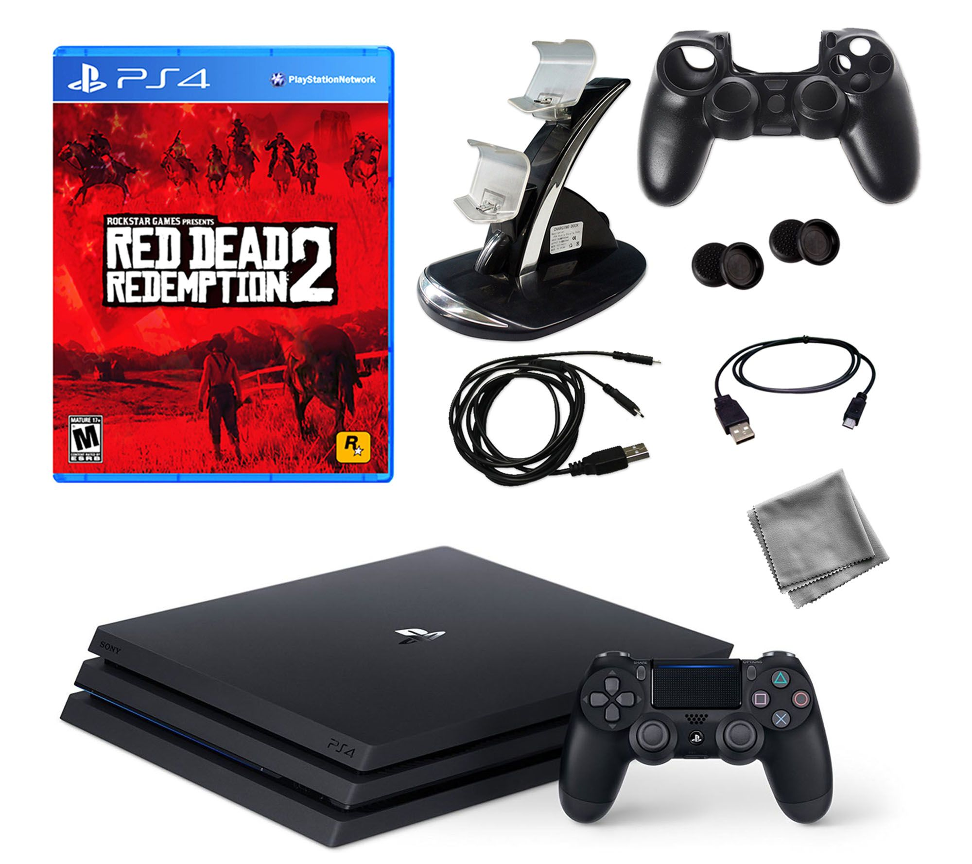 PS4 Pro 1TB Console with Red Dead Redemption 2 & Accessories — QVC com